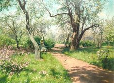 Landscape Painting - Swedish Artist Johan Krouthen (1858–1932) ~ Blog of an Art Admirer