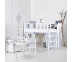Seaside white bed with playroom from Oliver Furniture