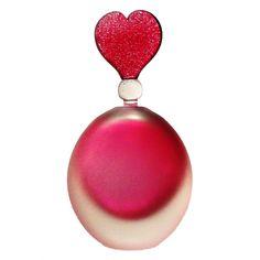 Bob Crooks glass heart glass perfume bottle