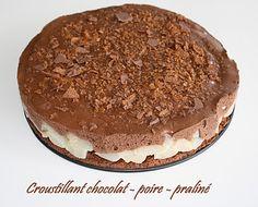 Croustillant choco-poire-praliné
