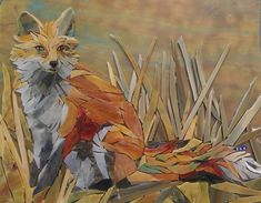 Fox mosaic by Suzanne Coverett Earls Mosaic Animals, Glass Animals, Mosaic Wall Art, Mosaic Glass, Stained Glass, Mosaic Projects, Mosaic Ideas, Glass Frog, Cross Stitch Art