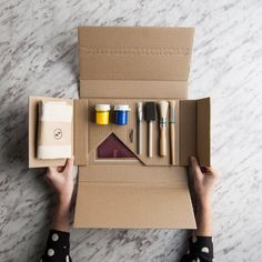 Launch kit with parts Packaging Carton, Brand Packaging, Gift Packaging, Craft Kits, Diy Kits, Sales Kit, Material Didático, Travel Kits, Packaging Design Inspiration
