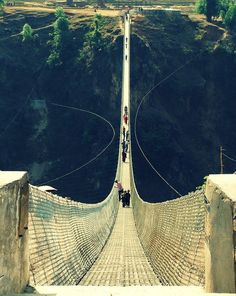 Kusma Gyadi Suspension Bridge, Nepal