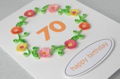 quilled card - looks doable