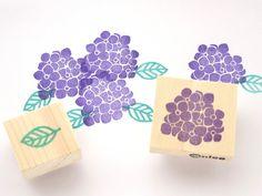 Hydrangea stamp Rubber stamp Flower decor by JapaneseRubberStamps