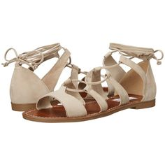 Steve Madden Sanndee (Taupe Nubuck) Women's Sandals ($70) ❤ liked on Polyvore featuring shoes, sandals, open toe shoes, open toe sandals, summer shoes, nubuck sandals and lace up sandals