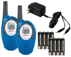 Pair COBRA CXT237 MicroTalk 20 Mile FRS/GMRS 22 Channel Walkie Talkie 2-Way Radios by Cobra. $37.99. The Cobra CXT 237 has a compact design with up to 20 mile range. Voice-activated (VOX) transmission frees hands for other tasks. Five selectable tones will distinguish between different parties for incoming calls. A total of 2662 channel combinations are available when the 22 channels are combined with the 142 privacy codes (38 CTCSS/104 DCS). These combinations prevent...