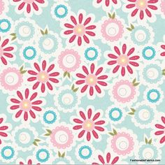 Sweet Divinity Sweet Flower on blue Flannel by Riley Blake Designs floral fabric on quilters flannel cotton Pretty Patterns, Vintage Patterns, Flower Patterns, Origami, Papel Scrapbook, Scrapbooking, Photo Editor Free, Borders For Paper, Riley Blake