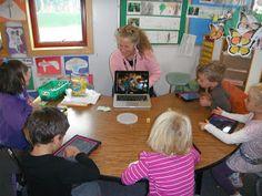 Mrs. Davison's Kindergarten - lots of technology in her classroom