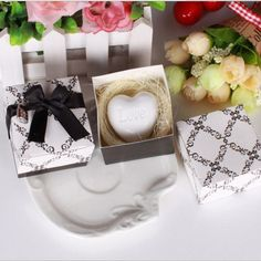 FashionStory Handmade Love Heart-shaped Design Bath Soap Wedding Party Love Gift Valentine Gift dr29