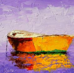 The Good Life, painting by artist Leslie Saeta Nautical Art, Sailboat Art, Boat Painting, Water Art, Painting Inspiration, New Art, Les Oeuvres, Amazing Art, Illustration