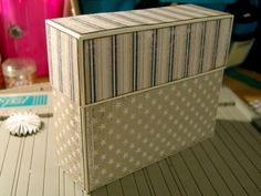 Today I am going to show you how you make a stationary box. You can put what ever you want in this box, c Today I am going to show you how you make a stationary box. You can put what ever you want in this box, cards, notepads, pencils and everyt. Handmade Stationary, Stationary Gifts, Scrapbook Box, Scrapbooking, Gift Box Design, Paper Gifts, Paper Bags, How To Make Box, Greeting Cards Handmade