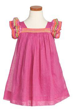 Nellystella 'Chloe' Flutter Sleeve Dress (Toddler Girls, Little Girls & Big Girls) Nordstrom's
