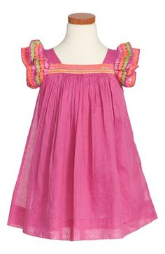 Nellystella 'Chloe' Flutter Sleeve Dress (Toddler Girls, Little Girls & Big Girls) available at #Nordstrom