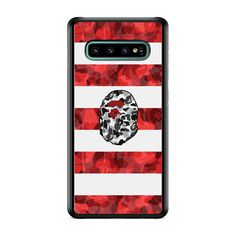 DOT For Samsung Galaxy S10 Plus Durable Protective Pouch Sleeve Faux Leather Case Cover with Easy Access Pull Tab Cord Slip In Red