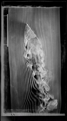 Etienne-Jules Marey,Tilted plane, 30-degree angle, fourth and last version of the smoke machine equipped with 57 channels,© Cinémathèque fra...