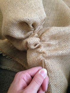 DIY Burlap Curtains on The Belle blog!