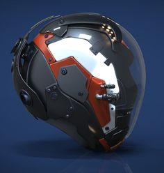 Robot Head (crop) by Richie Mason // what a nice render