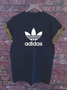 ~Addidas T-shirt with leapord print detail~