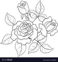 Best embroidery rose pattern coloring pages Ideas Embroidery Flowers Pattern, Ribbon Embroidery, Embroidery Stitches, Embroidery Designs, Flower Coloring Pages, Colouring Pages, Coloring Books, Adult Coloring, Vector Flowers