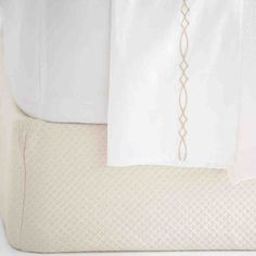 Diamond Matelasse Box Spring Cover Finials For Curtain Rods, Curtain Rod Hardware, Pink Bedding, Bedding Shop, White Bed Skirt, Box Spring Cover, Bedroom Sitting Room, Master Bedroom, Pine Cone Hill
