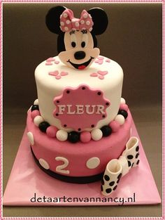 Minnie Mouse taart voor Fleur