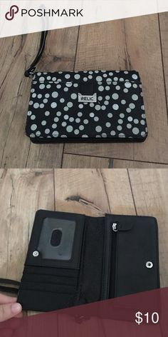 Wristlet Black and white polka dot relic clutch Bags Clutches & Wristlets