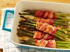 Wrap up your favorite spring vegetable in ribbons of salty bacon.