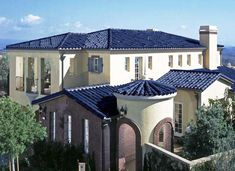 Very cool, super solar blue roof tiles.