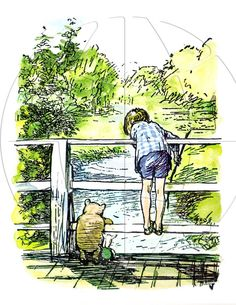 Kd. Bear. Classique Winnie l'Ourson par E.H. Shepard imprime par ChildsTouch