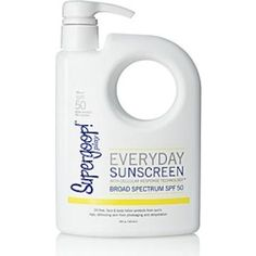 Preserve and protect your youthful glow head-to-toe with Supergoop! Everyday Sunscreen with Cellular Response Technology SPF This oil-free, non-comedogenic, feel-good formula lotion is perfect for a day of play. Sunscreen Spf 50, Thing 1, Broad Spectrum Sunscreen, Sun Care, Body Lotion, Face And Body, Technology, Beauty Products, Body Products