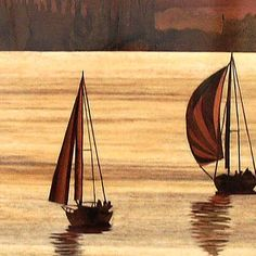 A display of the amazing marquetry produced by members of the Staffordshire Marquetry Group Diy And Crafts, Arts And Crafts, Scroll Saw Patterns Free, Picture On Wood, Sailboats, Wood Veneer, Pyrography, Love Art, Artsy Fartsy