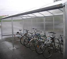Abri vélos toit arrondi - Série ATE - Abris urbains Bicycle, Veil, Bike Shelter, Rounding, Street Furniture, Park, Bike, Bicycle Kick, Trial Bike