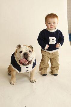 Melissa Squires Squires Nordan Blue II and Baby Bro. Bulldog Pics, Bulldog Puppies, Cute Puppies, Animals For Kids, Baby Animals, Cute Animals, Funny Kids, Cute Kids, Butler Bulldogs
