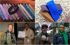 Crafty and want to help support the troops? Here are some ideas for you!