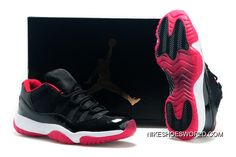 """720cad2a1b8f Air Jordan 11 Low """"Bred"""" Black Varsity Red White New Release"""