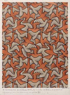 M.C. Escher, Twelve Birds, 1948