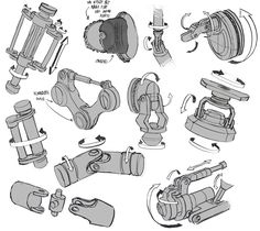 infinitedoodles: Mech Joints Study  This is a great example of exploring real-world interactions of parts and assemblies.