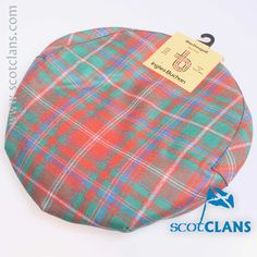 Pure wool tartan cap in MacDougall Ancient Tartan - Available from ScotClans