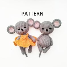 Mouse toy crochet PATTERN in English amigurumi toy Stuffed mouse Pdf crochet pattern Pet animal Baby toy gift Crochet Hippo, Crochet Mouse, Crochet Patterns Amigurumi, Crochet Gifts, Crochet Hooks, Cute Mouse, Amigurumi Toys, Stuffed Toys Patterns, Digital Pattern