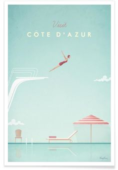 Côte dAzur als Premium Poster von Henry Rivers | JUNIQE