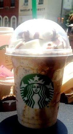chocolate chip brownie frappuccino vanilla bean frappuccino with java chips, mocha syrup, whipped cream, and a chocolate drizzle