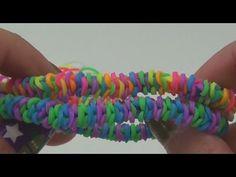 Rainbow Loom Fishtail DIY INSIDE OUT bracelet Fischgrätenarmband Anleitung deutsch GABEL - YouTube