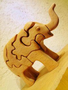 木の立体動物パズル「ani-woods」鼻上げぞうの画像4枚目