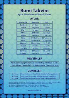 Rumi takvime göre aylar, mevsimler, cemreler ve önemli günler, Rumi Takvim Nedir? | matizle