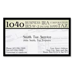 Tax preparer accountant business card accountant business cards tax preparer accountant business card colourmoves