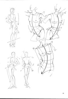 Foto: Human Anatomy Drawing, Human Figure Drawing, Figure Drawing Reference, Art Reference Poses, Body Drawing, Fashion Figure Drawing, Fashion Illustration Sketches, Art Drawings Sketches, Easy Drawings
