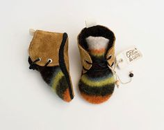 Leather and Wool Baby/Toddler Shoes, Slippers, First Walking Shoes