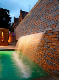 cool a spout in the wall so you could take a shower outside Epic Pools, Cool Pools, Awesome Pools, Dream Pools, Queen, Interior And Exterior, Interior Design, Pool Designs, My Dream Home