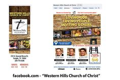 Western Hills Church of Christ (Temple) Custom Facebook Page - Designed by The Marketing Twins Facebook Fan Page, Churches Of Christ, The Marketing, Page Design, Westerns, Create Yourself, Temple, Twins, How To Plan